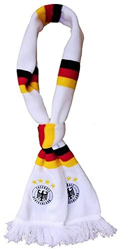 Generisch Deutschland Schal weiß WM-Sterne Bestickt