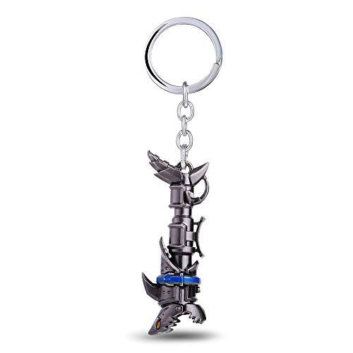 MINTUAN Schlüsselbundspiel Anime Schmuck Großhandel Jinx Kanone LOL Keychain Metallschlüsselhalter Llaveros Chaveiro