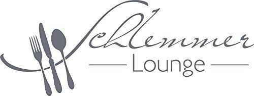 GRAZDesign Wandtattoo Küche Schlemmer-Lounge Küchen-Aufkleber für Wände, Schränke, Fliesen, Möbel für Restaurant und Bars (79x30cm//071 grau)