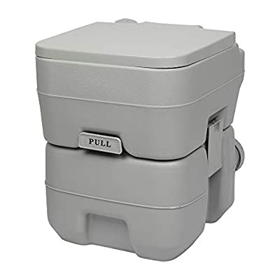 20L Portable Removable Flush Toilet with Double...