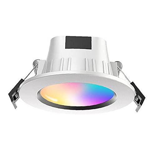 Obelunrp LED Empotrable Downlight Teléfono inalámbrico controlado Smart Smart RGB Spotlights para la decoración navideña de Vacaciones
