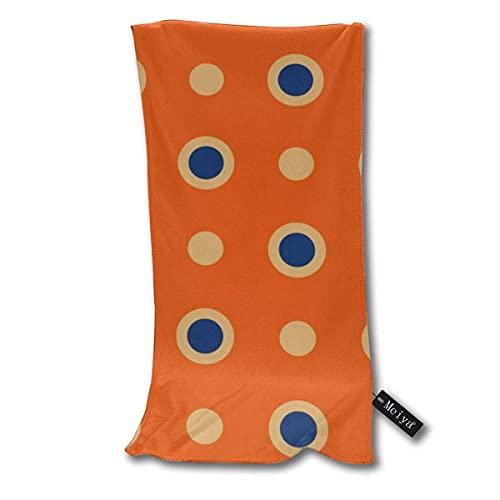 ZDmood Toallas de baño Toalla de bañ diseño de Lunares, Color Naranja y Azul, superabsorbente, de 30 * 70cm