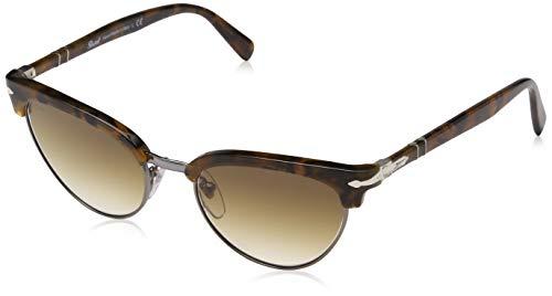 Persol 0PO3198S Gafas de sol, Ojos de gato, 50, Dark Tortoise Brown