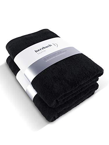 herzbach home 2er Set Premium Handtücher 50 x 100 cm aus 100% ägyptischer Baumwolle