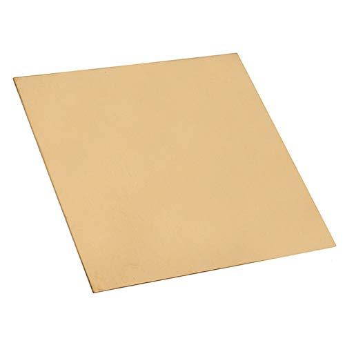 zxxin-Hoja de latón Duradera, Placa de láminas de latón de 1 mm de Espesor 100mm * 100 mm con Resistencia a la corrosión for la Herramienta de Soldadura brzing, 1pc