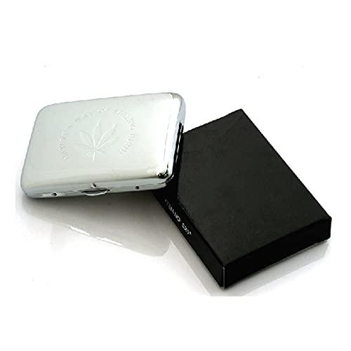 JGFJ Estuche de Cigarrillo de Metal Flip Cigarette Masculino y Hembra Cobre Impermeable y Polvo a Prueba de Polvo Caja de Cigarrillo portátil (Color : White)