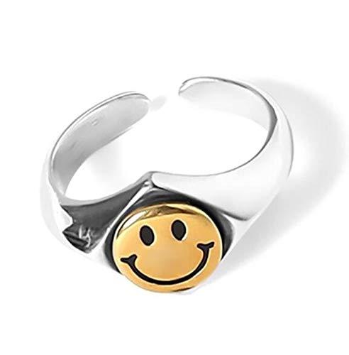 LuckyOne Anillos de plata de ley 925 genuina para mujer, 2 capas, minimalistas, redondos, delgados, anillos de joyería tallada S925