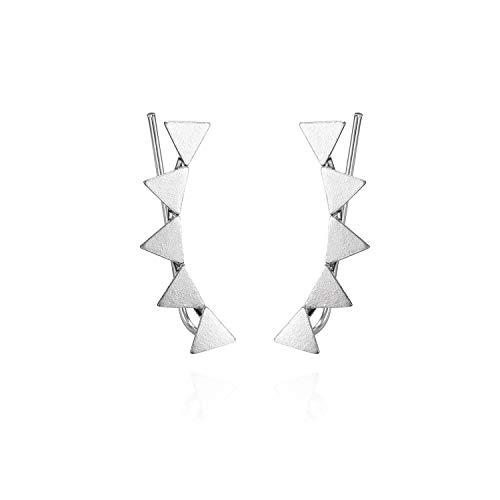 Pendientes Trepadores Mujer Plata De Ley 925 Pendientes Mujer Plata Ear Cuffs perfectos Para Hacer un Regalo Original. (Modelo 2)
