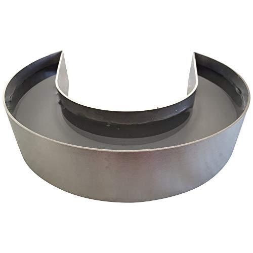 Luftbefeuchter Edelstahl - für Kaminofen mit Ofrohr 160mm und kleiner