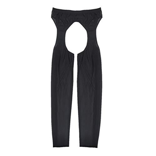 iixpin Herren Mesh Ouvert-Leggings vorne und hinter Ouvert-Hose Fitness Schwarz Hose Funktionswäsche Pants Dessous-Unterwäsche A Schwarz One Size