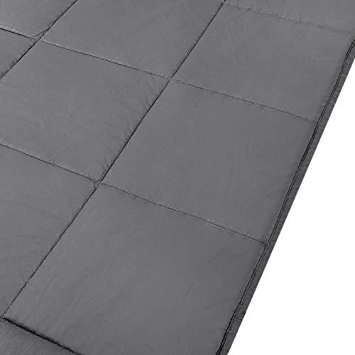GOPLUS Gewichtsdecke Schwerkraftdecke Schwerkraft-Decke Gewichtete Schwere Decke Beschwerte Decke Schlafdecke aus Baumwolle (122X185CM, 5.5) - 6