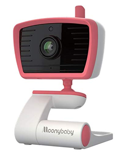 Moonybaby Add-on Baby Camera for B Series, Dual Monitor for 2 Rooms and Children, Sound Activated, Temperature Alert, High Solution with Wide View, Auto Night Vision and Zoom, 2-Way Talk, Lullabies