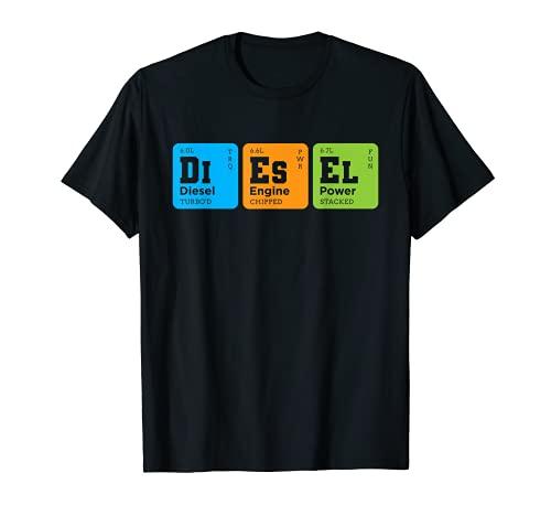 Diesel Elementos Tabla Peridica Camionero Camionero Regalo Camiseta