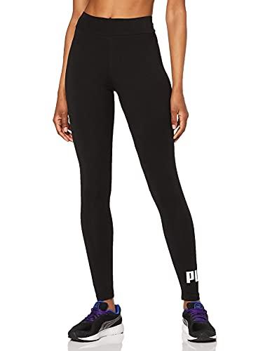 Puma Essentials Logo W Legging Deportivo de Talle Alto, Mujer, Negro, M