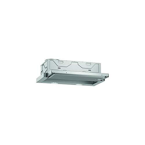 Neff D46BR12X6 - Cappa aspirante a schermo piatto N30, 60 cm, scarico o ricircolo, classe di efficienza energetica C, colore: Argento metallizzato