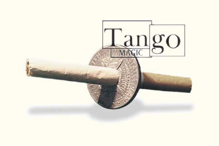 Cigarette Through Half Dollar (One Sided w/DVD) (D0014)by Tango - Trick