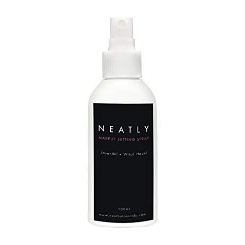 Fissante trucco spray NEATLY senza parabeni e alcool | 100ml | Fissatore make up con olio di lavanda e amamelide | Cosmesi naturale e vegan