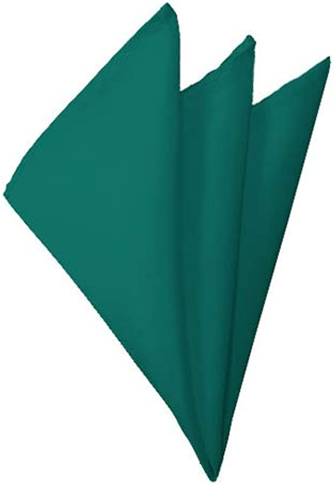 Solid Teal Cash special price OFFicial store Green Handkerchief