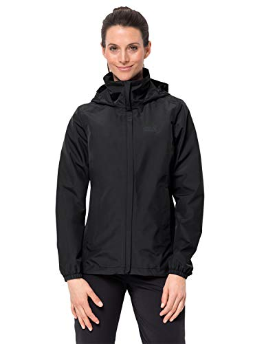 Jack Wolfskin Damen STORMY POINT JACKET W Wetterschutzjacke, black, XL