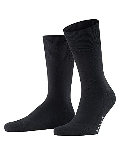 FALKE Men Airport Plus Socks - Merino Wool/Cotton Blend, Black (Black...