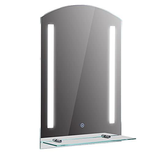 HOMCOM LED Spiegelschrank Lichtspiegel Badspiegel Badschrank Badezimmerspiegel Wandspiegel 15W (Modell4)