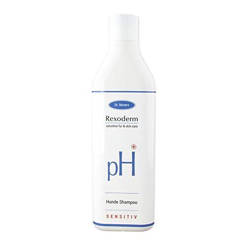 Dr. Mosers REXODERM Sensitive-Shampoo | Lindert Hautreizungen – gegen Juckreiz | Anti-Bakteriell – mindert Gerüche | Regenerativ | Hundeshampoo ohne Silikone (300 ml)