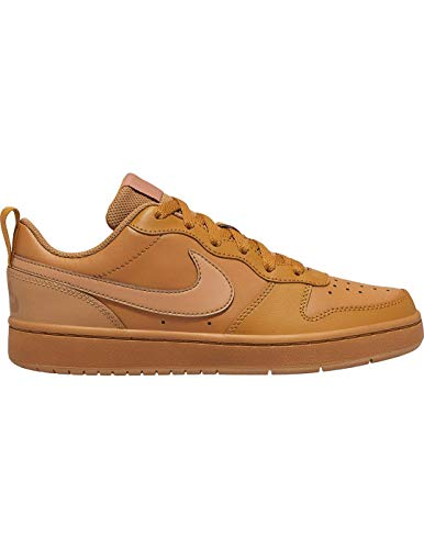 Nike Jungen Court Borough Low 2 (GS) Hohe Sneaker, Mehrfarbig (Wheat/Wheat-Gum Light Brown 700), 36 EU