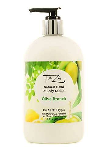 Premium Taza Natural Olive Branch Hand & Body Lotion (473 ml) Contains: Sunflower Seed Oil, Triglyceride, Sweet Almond…