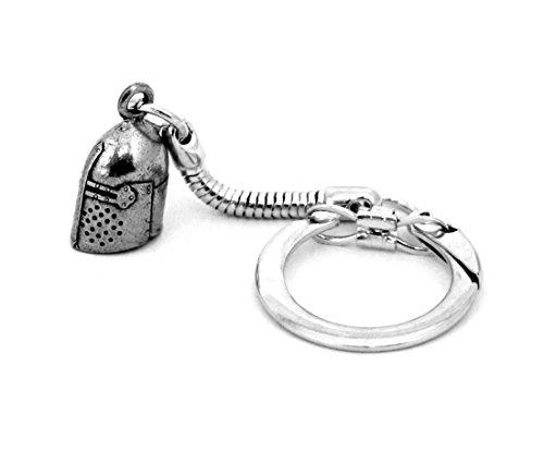 Porte-clefs Casque de Chevalier avec Sac à Cadeau