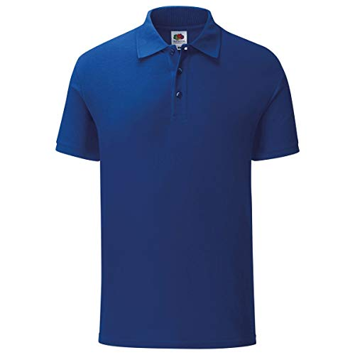 Fruit of the Loom 3er Pack Iconic Polo Shirt Herren Poloshirt Mehrpack Größe S - 3XL, Größe:XL, Farbe:kobaldblau