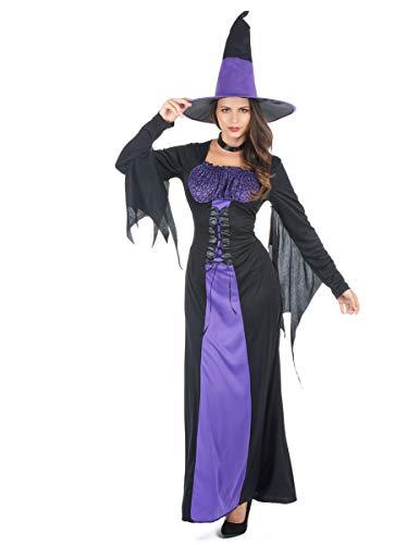 Déguisement sorcière à Corsage Femme Halloween Taille Unique (40)