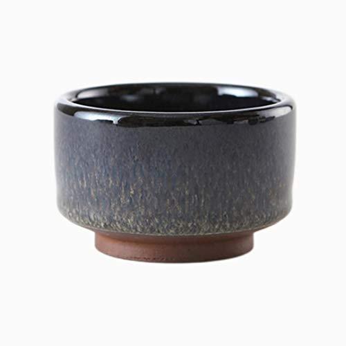 ATYBO Taza de té Maestra de cerámica Gruesa Antigua, Juego de té de Arcilla púrpura auténtica de Estilo japonés, Cuenco Creativo para decoración del hogar, Utensilios para Beber