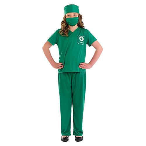 Fun Shack Déguisement pour Enfant Costume Vert de Vétérinaire pour Garçon et Fille - Taille XL