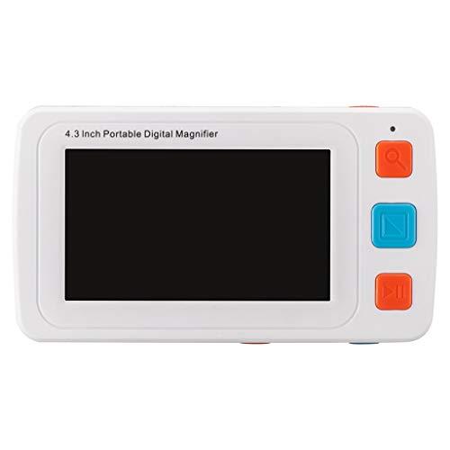 4,3 Zoll Tragbar Schlechte Sicht Sehhilfe Digitale Lupe, Mit LED-Licht 2X-42X-Vergrößerung 17 Farbmodi LCD-Monitor, Passend Für Alter Mann, Kind, Schlechte Sicht, Lesen, Beobachteten, Karte, Briefmark