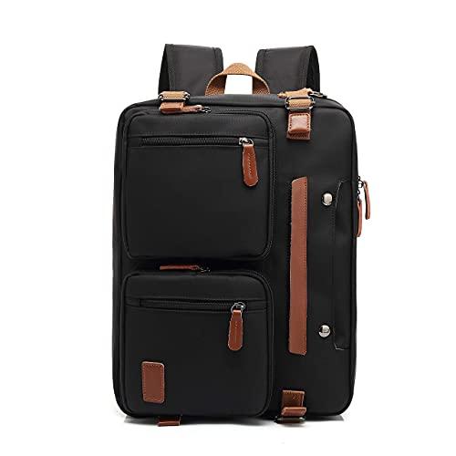 MOLNIA Laptop Backpack for Men Women, Anti Theft Travel Bag Computer Business Briefcase Messenger Bag Fits 17.3 Inch Laptop, Black