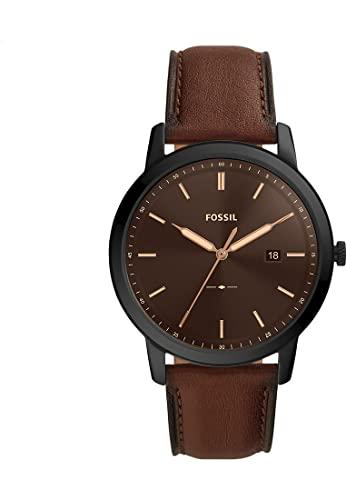 Fossil Herren-Uhren Solar One Size Schwarz 32017226