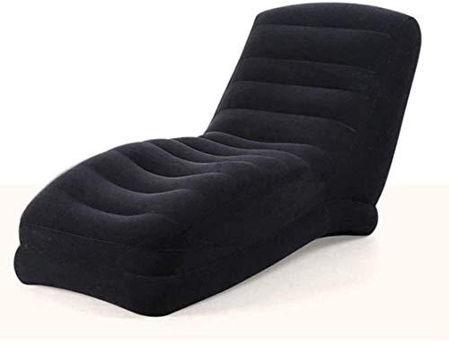 Decoración de muebles Tumbona Sillas de jardín Tumbona plegable Sillas reclinables para patio Sofá tumbona inflable Sala de estar Dormitorio Balcón Camping al aire libre Picnic Silla plegable Sofá
