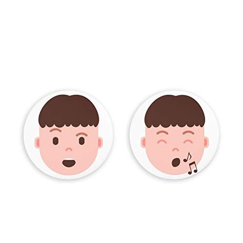 Imanes Fuertes para refrigeradorImanes para refrigerador, Paquete de 2 imanes para refrigerador de Emoji Humano, Juego de 2 imanes para Oficina