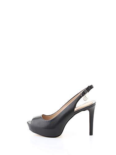 Guess FL5DDI Chanel, Peep-Toe, Leder, Damen, Schwarz - Schwarz  - Größe: 41 EU