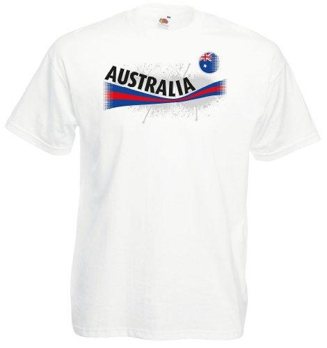 Fruit of the Loom Australien Herren T-Shirt Australia Vintage Trikot w-XL