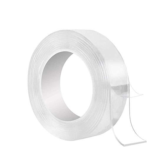 両面テープ 超強力 魔法のテープ 新しい多機能両面粘着ナノテープ 洗えない取り外し可能なマジックテープなし 滑り止め のり残らず 繰り返し 防水 洗濯可能 無毒無味 地震防止 多用途 家庭 寮 学校 強力接着用 工業用など (3m*5cm*2mm)