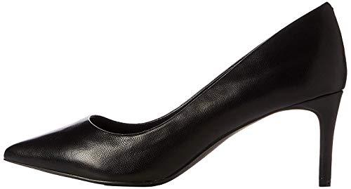 find. Point Mid Heel Leather Court Pumps, Schwarz Black), 38 EU