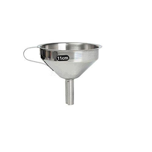 Embudo y filtro decantador de aceite o mermeladas de acero i