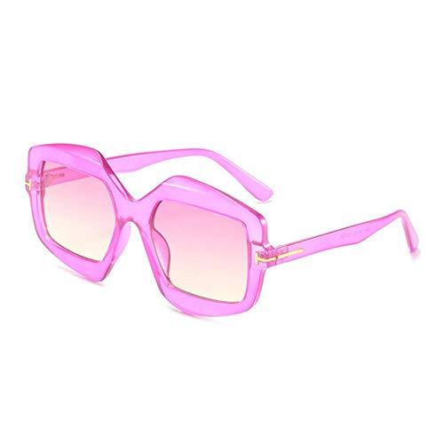 Gafas De Sol Mujeres Moda De Gran Tamaño Polígono Gafas De Sol Mujer Vintage Eyewear Shades Square Gradiente Gafas De Sol Mujer Uv400