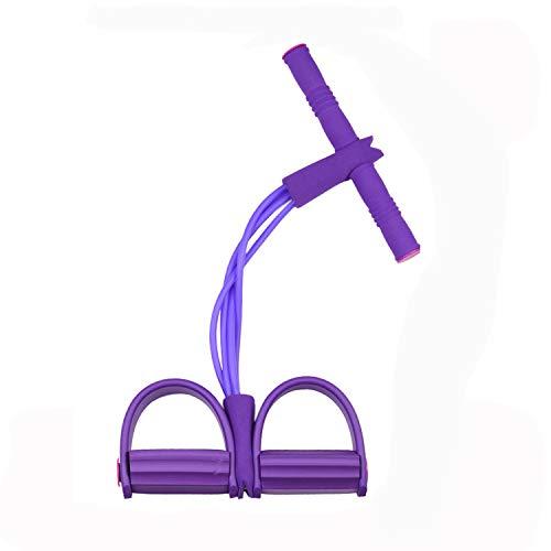 KATELUO Fune di Tensione Multifunzione, Sit-up Pull Rope, Pedale Elastico Fitness, 4 Tubi Leg Exerciser per Braccio, la Vita, Stomaco, Allungamenti delle Gambe