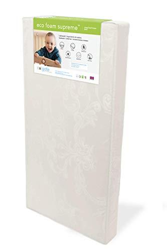 EcoFoam Supreme Crib Mattress by Colgate Mattress | Waterproof Damask Cover | Hypoallergenic | Lightweight | GREENGUARD Gold Certified
