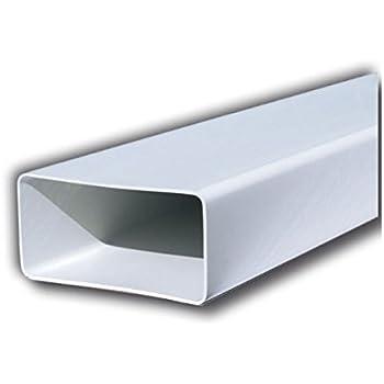 Tubo de 120 x 60 mm y longitud de 1,5 m hecho de PVC para ventilación canalizada de campana de cocina, color blanco: Amazon.es: Hogar