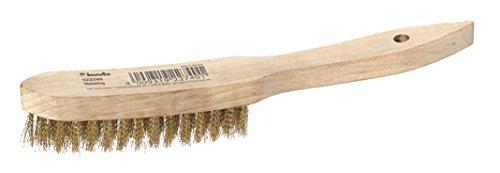 kwb Messing-Drahtbürste mit Holzgriff 922740 (gewellter Messingdraht, strapazierfähig, Länge 275 mm)