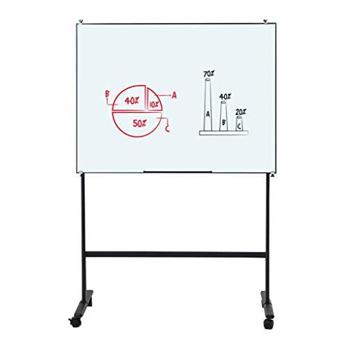 Magnetisches Whiteboard Aus Gehärtetem Glas, Einstellbarer Winkel Halterungstyp Bürotreffen Schreibtafel Auf Rädern Bewegliches Lehrtraining Vorlesung Tafel Wandnotizbrett Löschbares Brett Kanban