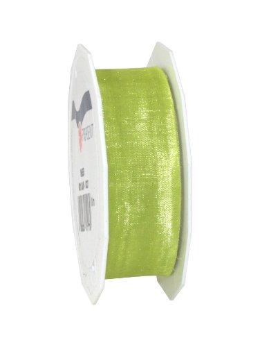 C.E. Pattberg SHEER Organzaband limette (grün) , 25 m Geschenkband zum Einpacken von Geschenken, 25 mm Breite, Zubehör zum Dekorieren & Basteln, Dekoband für Präsente